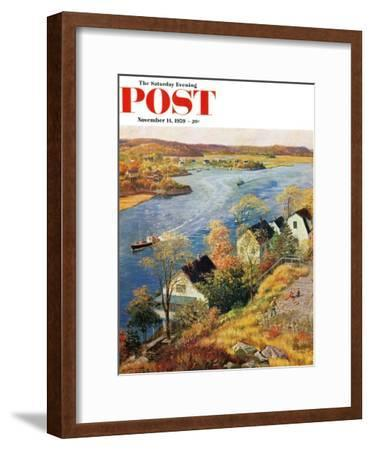 """Gloucester Harbor"" Saturday Evening Post Cover, November 14, 1959"