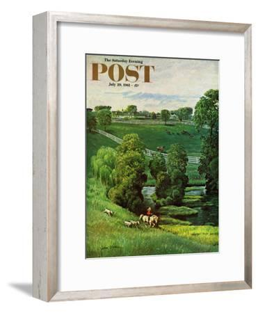 """""""Green Kentucky Pastures,"""" Saturday Evening Post Cover, July 29, 1961"""