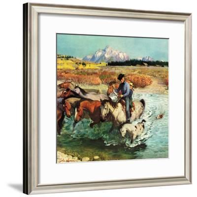 """""""Herding Horses"""", September 13, 1952"""