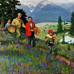 """""""Hiking in Mountains"""", May 31, 1952 by John Clymer"""
