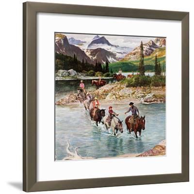 """Horseback Riding in Glacier Park,"" July 30, 1960"