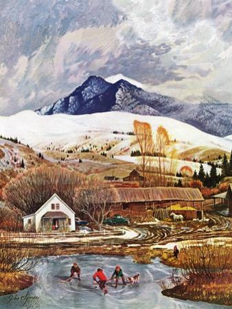 """Ice Hockey on Mountain Pond"", December 13, 1958"