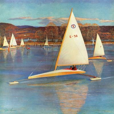 """""""Iceboating in Connecticut"""", November 28, 1959"""