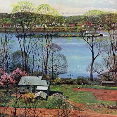 """""""Ohio River in April,"""" April 15, 1961"""