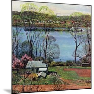 """Ohio River in April,"" April 15, 1961 by John Clymer"
