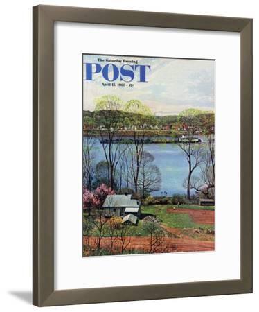 """""""Ohio River in April,"""" Saturday Evening Post Cover, April 15, 1961"""
