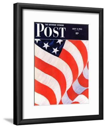 """""""Old Glory,"""" Saturday Evening Post Cover, July 4, 1942"""