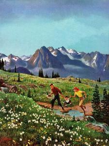 """Picnic On Mt. Ranier"", July 17, 1954 by John Clymer"