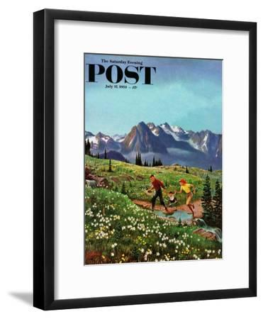 """""""Picnic On Mt. Ranier"""" Saturday Evening Post Cover, July 17, 1954"""