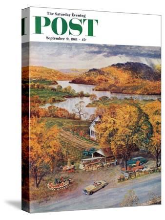"""Roadside Vegetable Stand,"" Saturday Evening Post Cover, September 9, 1961"
