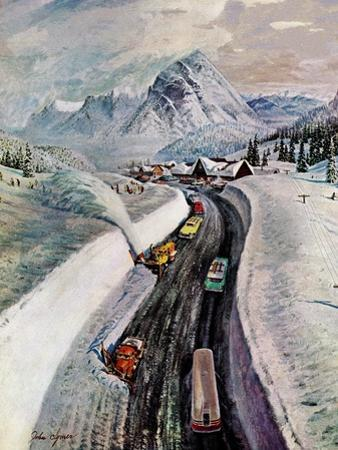 """""""Snowplows at Snoqualmie Pass,"""" February 6, 1960"""