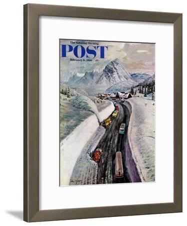 """Snowplows at Snoqualmie Pass,"" Saturday Evening Post Cover, February 6, 1960"