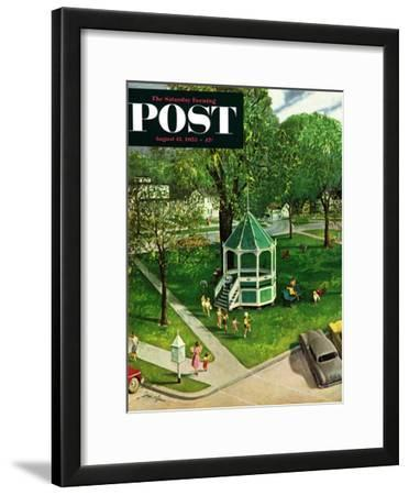 """Town Green"" Saturday Evening Post Cover, August 15, 1953"