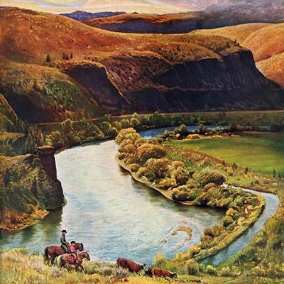"""Yakima River Cattle Roundup"", May 10, 1958"