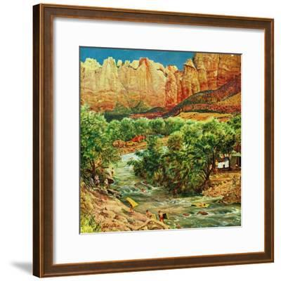 """""""Zion Canyon,"""" July 9, 1960"""