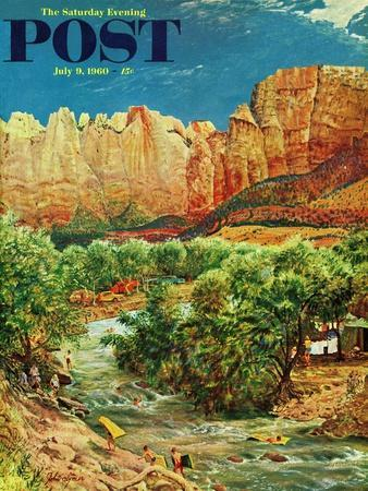 """""""Zion Canyon,"""" Saturday Evening Post Cover, July 9, 1960"""