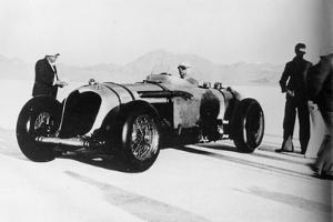 John Cobb in His Napier-Railton, Bonneville Salt Flats, Utah, USA, C1935-C1936