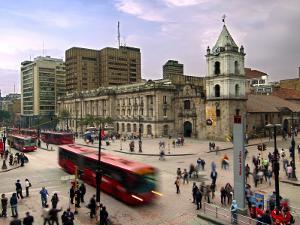 Colombia, Bogota, 16th Century Iglesia De San Francisco, Avendia Jimenez and Carrera Septima by John Coletti