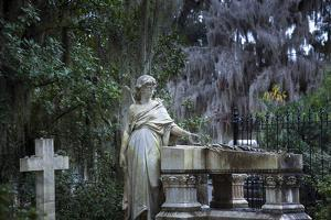 Georgia, Savannah, Bonaventure Cemetery, Famous For Its Beautifully Appointed Tombs Adorned With An by John Coletti