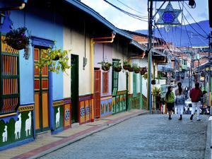 Guatape, Colombia, Outside of Medellin, Small Town known for its 'Zocalos' Panels of Three Dimensio by John Coletti