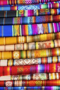 Hand Made Texitiles for Sale, Saquisili Market, Saquisili, Ecuador, Coropaxi Province by John Coletti