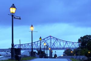 Louisiana, New Orleans, Algiers, Jazz Walk of Fame, Crescent City Connection Bridges by John Coletti