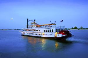 Louisiana, New Orleans, Creole Queen Steamboat, Mississippi River by John Coletti