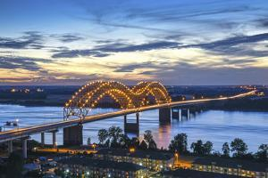 Memphis, Tennessee, Mississippi River, Hernand De Soto Bridge, Connection Between Memphis And Arkan by John Coletti