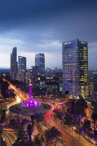 Mexico, Mexico City, Angel of Independence, Monument To Independence, Roundabout, Paseo de la Refor by John Coletti