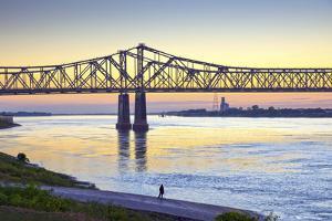 Natchez, Mississippi, Historic Under The Hill District, Natchez-Vidalia Bridge by John Coletti