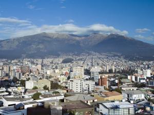 Pichincha Volcano and Quito Skyline, Ecuador by John Coletti