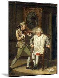 Dr Johnson with the Barber by John Collet