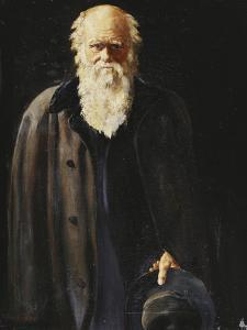 Portrait of Charles Darwin, Standing Three Quarter Length, 1897 by John Collier