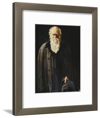 Portrait of Charles Darwin, standing three quarter length