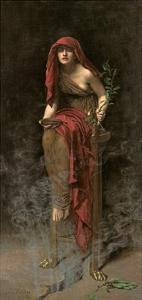 Priestess of Delphi, 1891 by John Collier