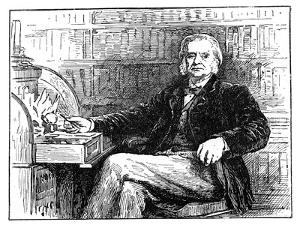 Thomas Henry Huxley, British Biologist, at His Desk, C1880 by John Collier