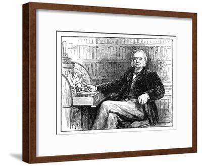 Thomas Henry Huxley, British Biologist, at His Desk, C1880