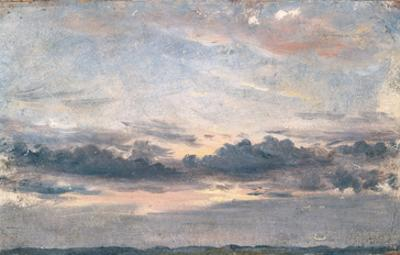 A Cloud Study, Sunset, C.1821 (Oil on Paper on Millboard)