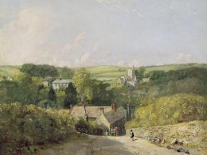A View of Osmington Village with the Church and Vicarage, 1816 by John Constable