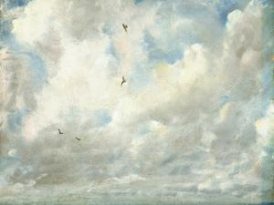 Cloud Study, 1821 (Oil on Paper Laid Down on Board) by John Constable