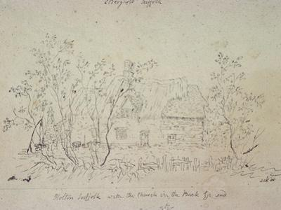 Cottage at East Bergholt, with a Well