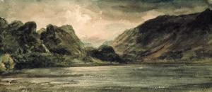 Derwentwater, Stormy Evening by John Constable