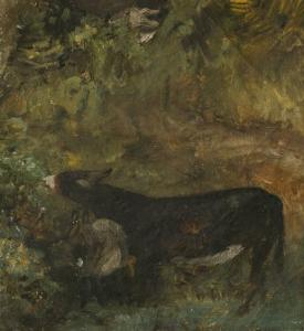 Donkey with Foal: Study for The Cornfield by John Constable