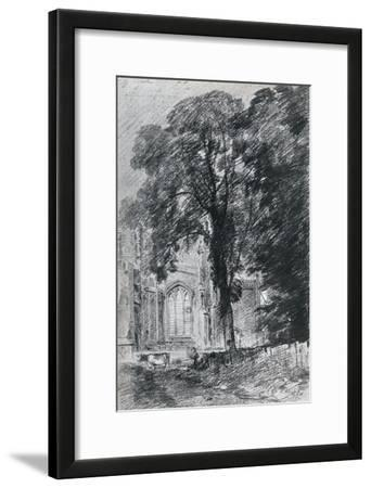 East Bergholt Church: Part of the West End Seen Beyond a Group of Elms, 1925