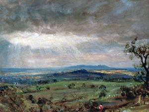 Hampstead Heath with Harrow in the Distance, C1821 by John Constable