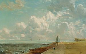 Harwich, the Low Lighthouse and Beacon Hill, c.1820 by John Constable