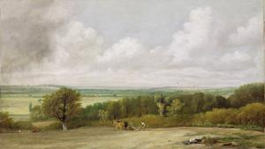Landscape: Ploughing Scene in Suffolk (A Summerland) c.1824 by John Constable