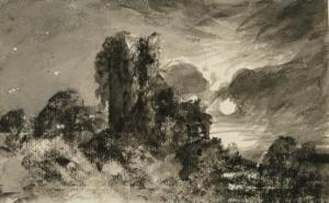 Moonlit Ivy Tower From Thomas Gray's Elegy by John Constable