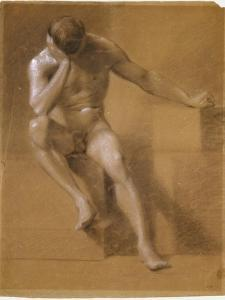 Painted Study of Male Nude, c.1800 by John Constable