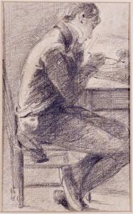 Portrait of an Artist Sketching, 1801 by John Constable